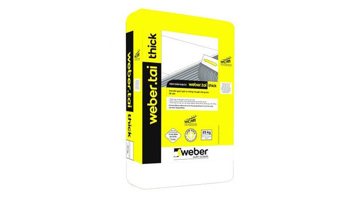 Sản phẩm keo dán gạch của Weber